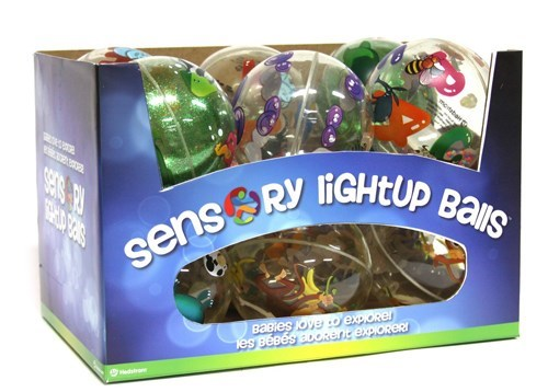 Sensory - Balle lumineuse assorties