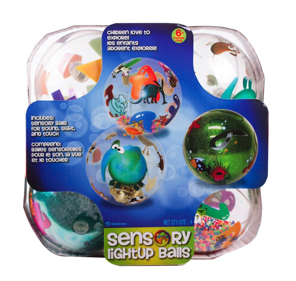 Sensory 4 balles lumineuses club jouet achat de jeux et for Piscine a balle jouet club
