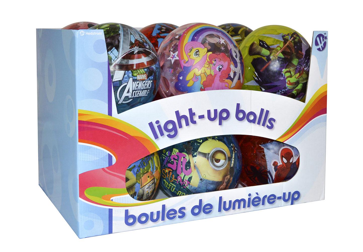 Balle lumineuse 10 cm licence assorties