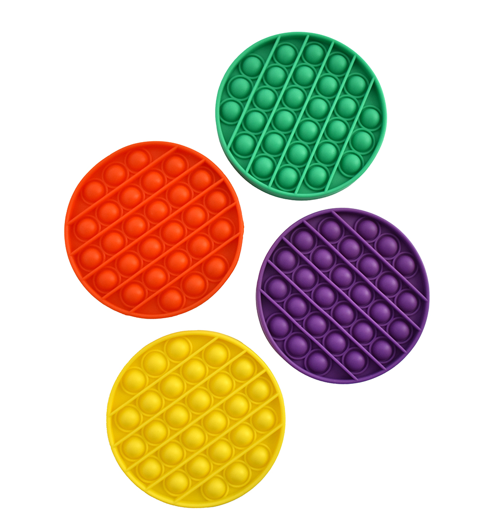 PushNpop Jouet sensoriel en silicone - Rond assortis