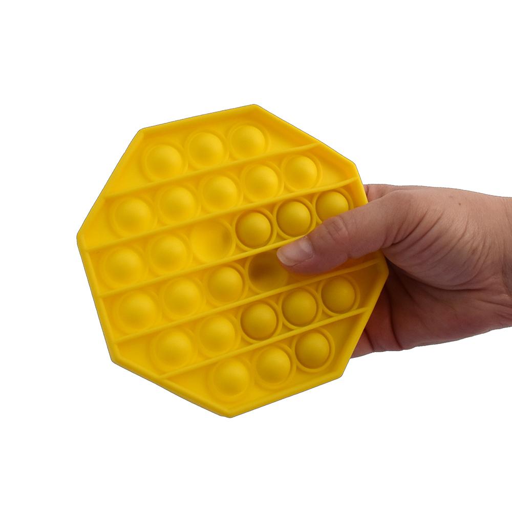 PushNpop Jouet sensoriel en silicone - Octogone assortis
