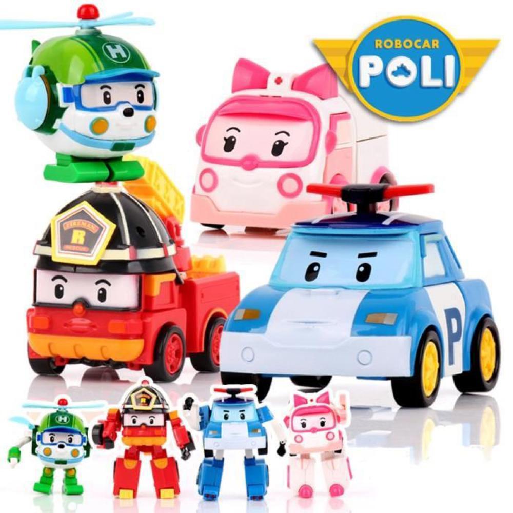 Robocar Poli - Robot transformable assortis