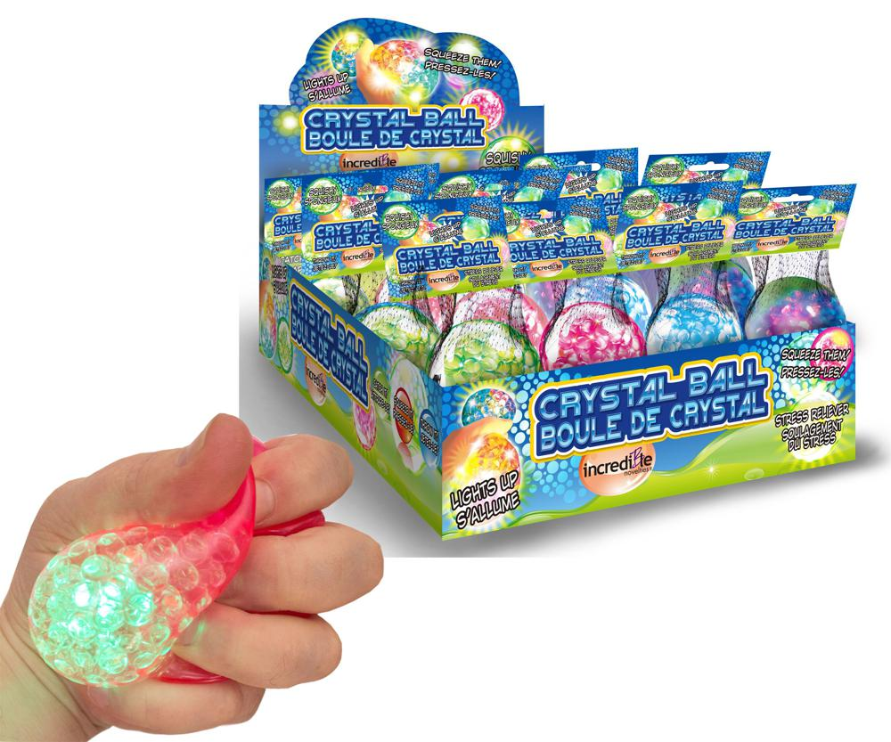 Balle crystal lumineuse