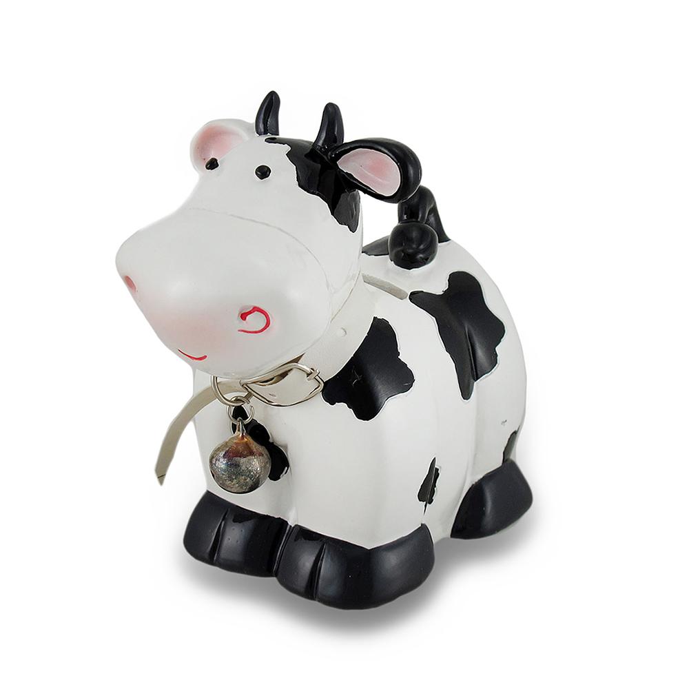 Tirelire Vache avec une cloche 7 pouces