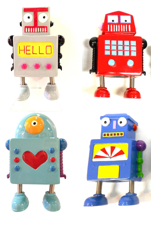 Tirelire Robot 6.5 pouces 4 modèles assortis