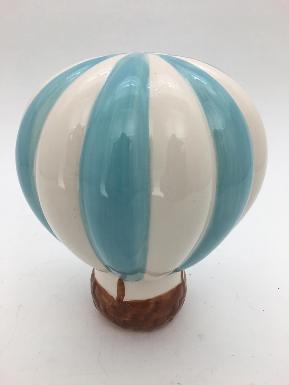Tirelire Montgolfière bleue 7,5 pouces