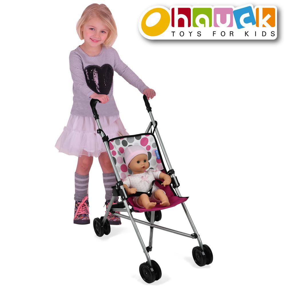 Pink Dot - Poussette parapluie pour poupée