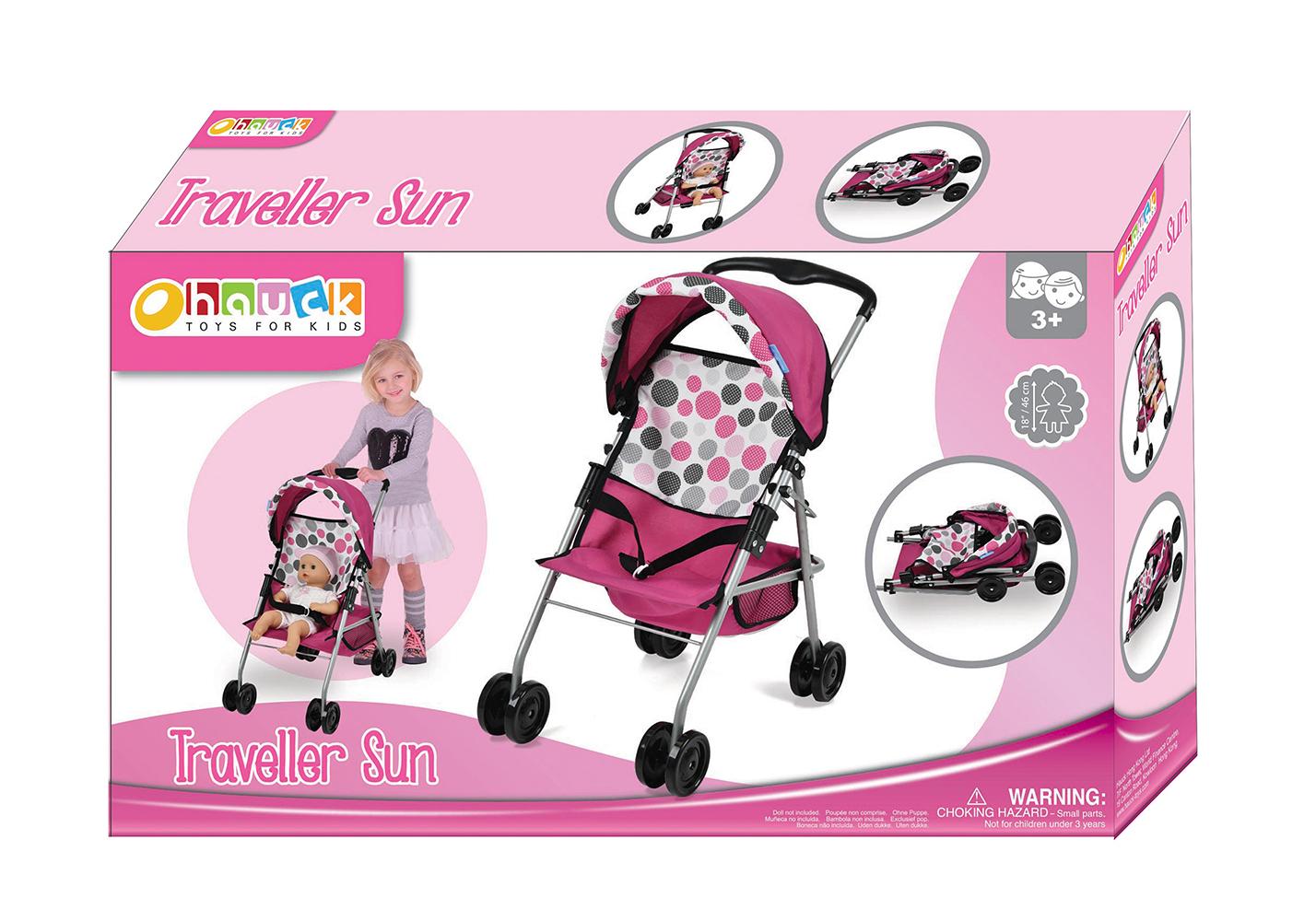 Pink Dot - Poussette de luxe Traveller Sun pour poupée