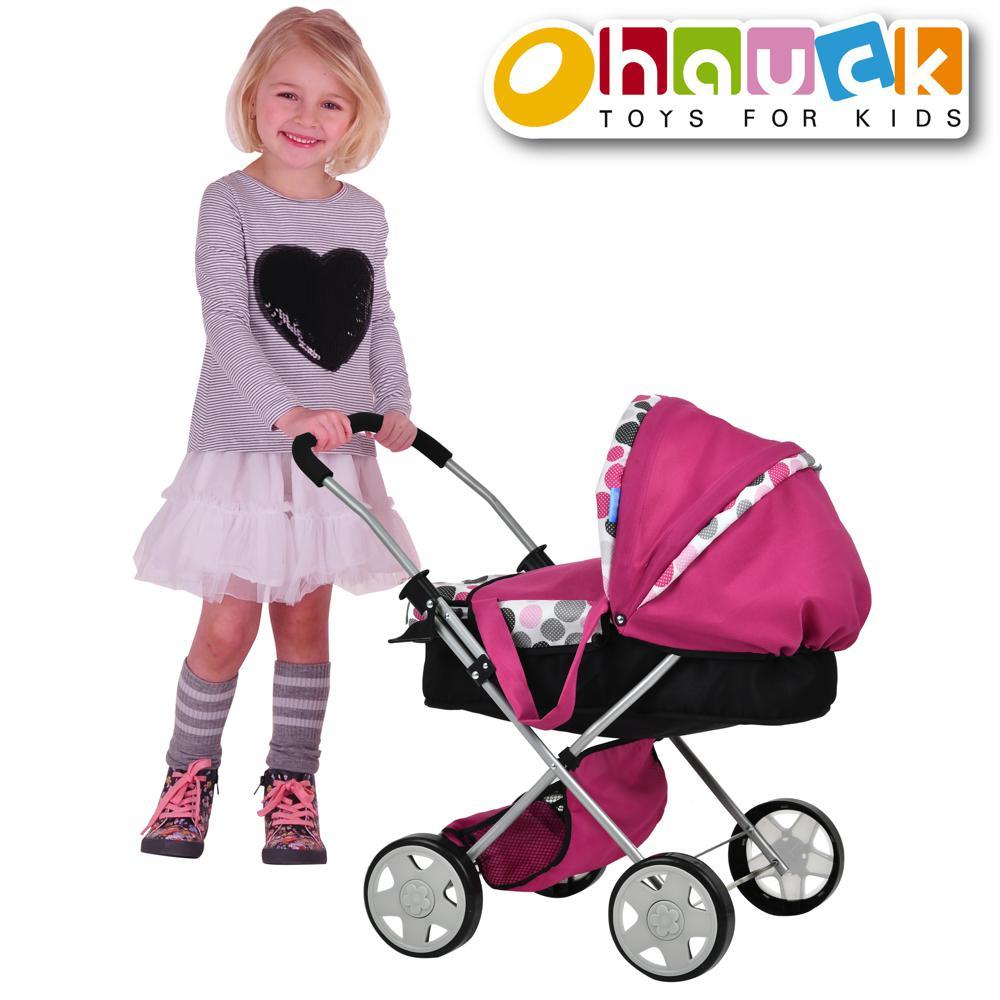 Pink Dot - Landau de luxe Diana pour poupée