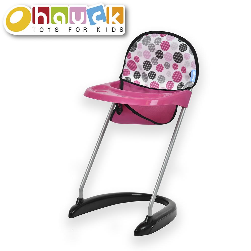 Dot Pink - Chaise haute pour poupée