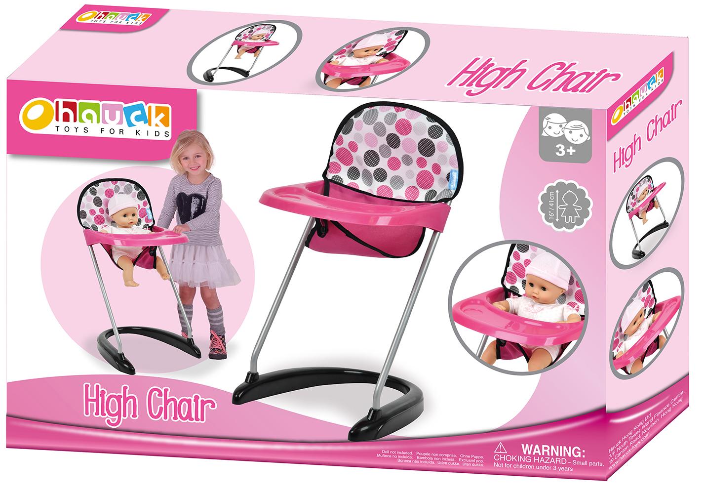 Pink Dot - Chaise haute pour poupée