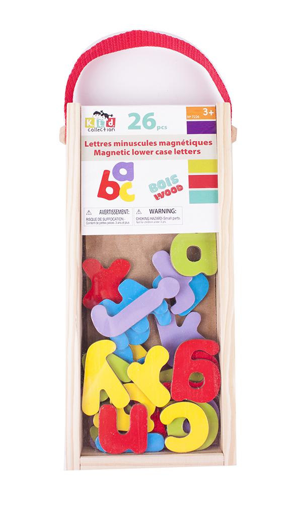 Lettres minuscules magnétiques 26 pièces