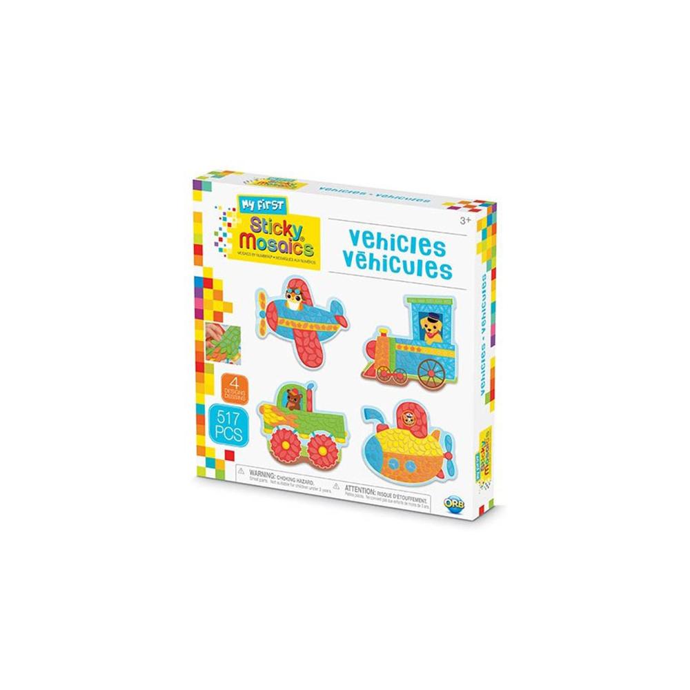 My First Sticky Mosaics - Véhicules