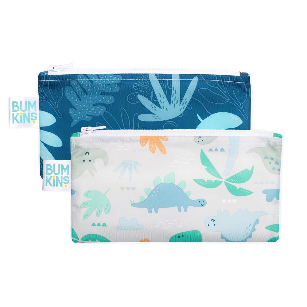 Ensemble de 2 sacs à collation réutilisables - Bleu tropic