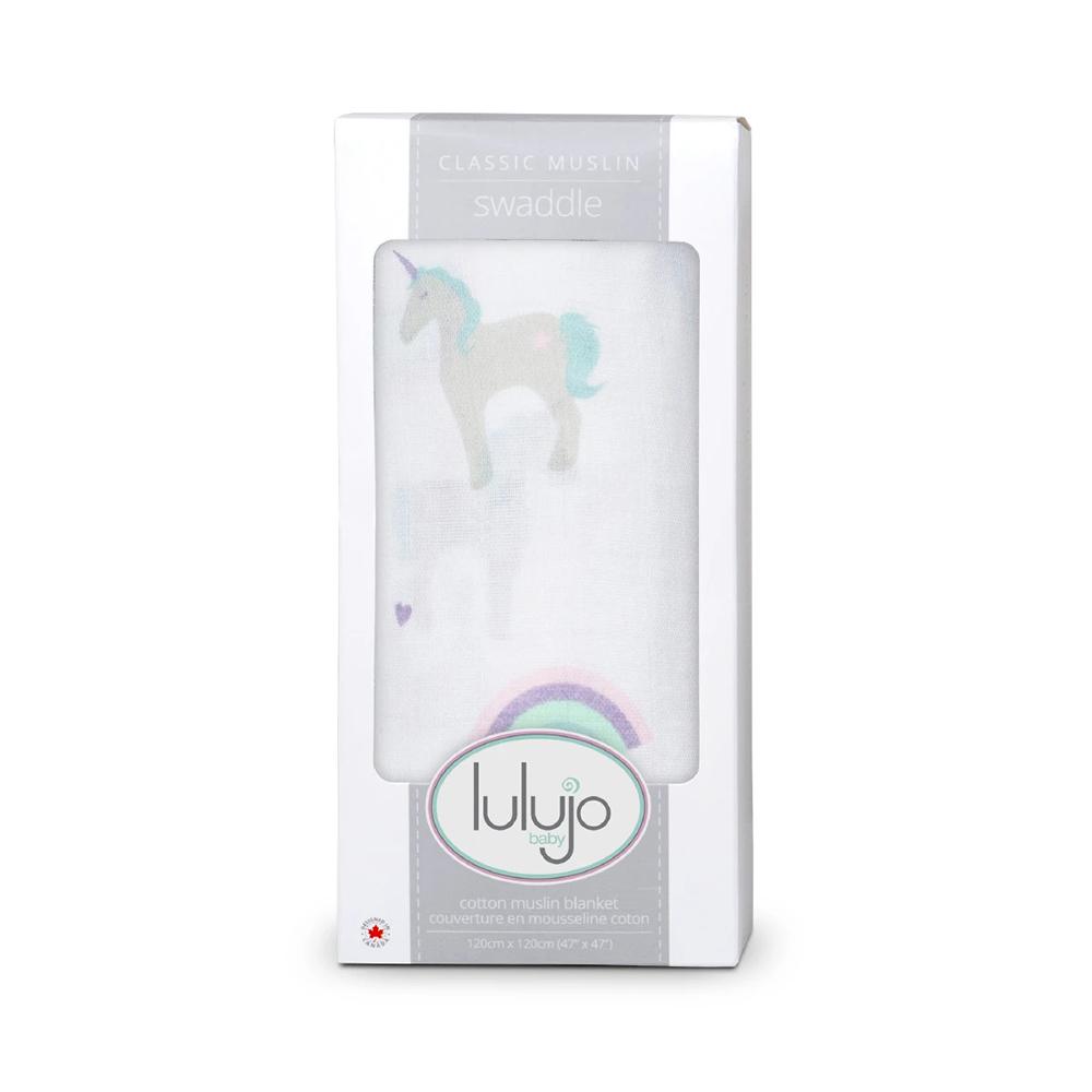 Lulujo - Mousseline de coton Licorne