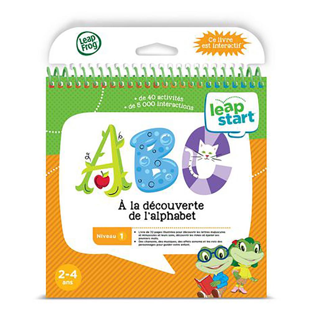 LeapStart Livre ABC À la découverte de l'alphabet Version française