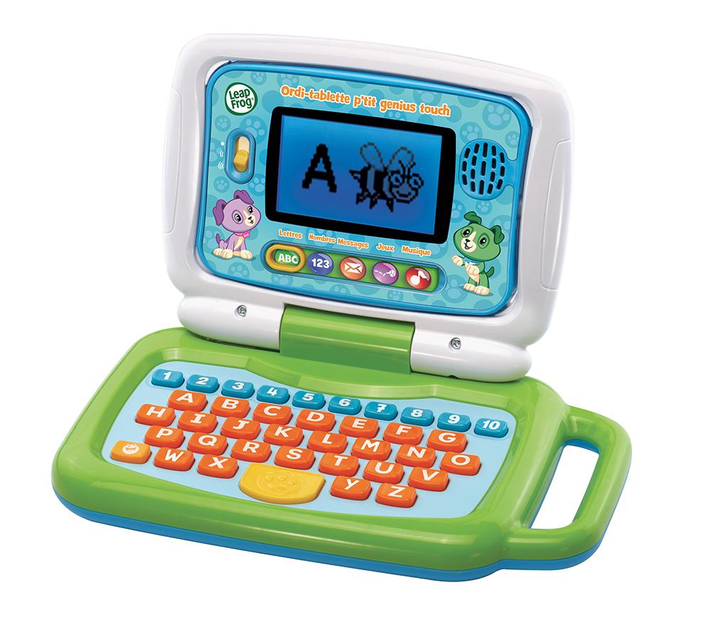 LeapFrog - Ordi-tablette p'tit genius touch vert - Version française