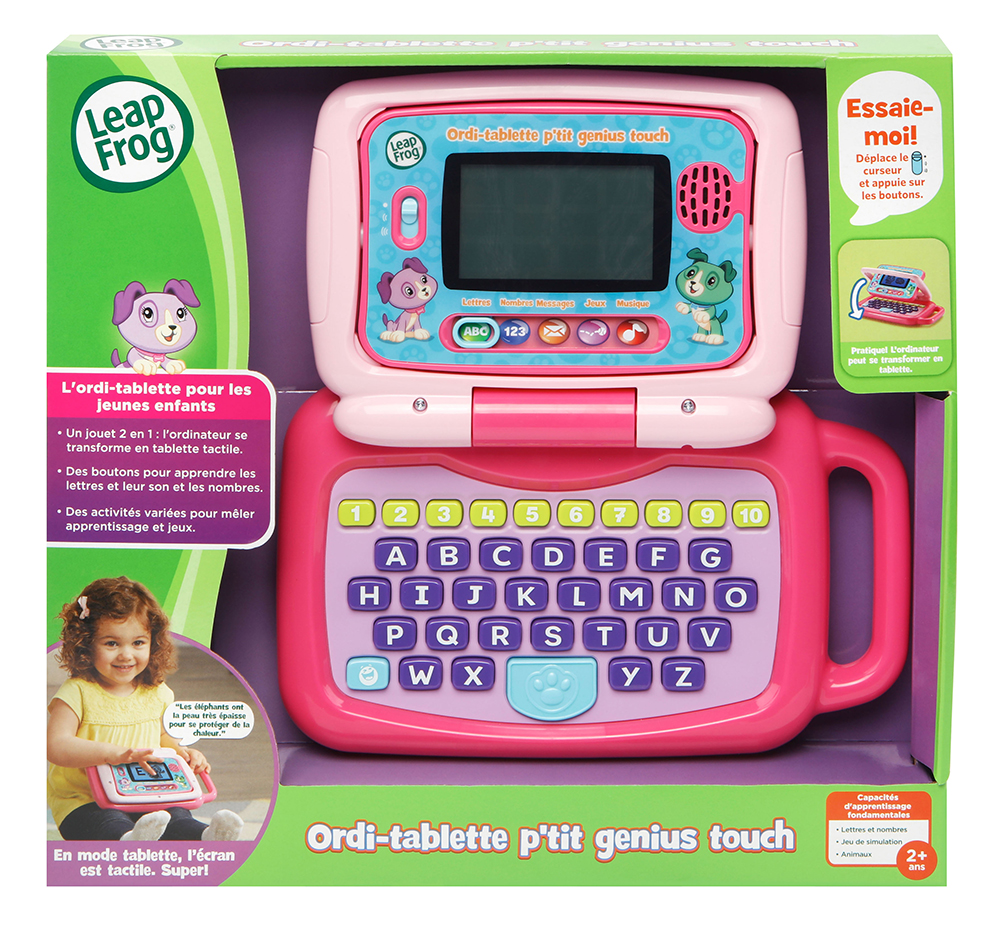 LeapFrog - Ordi-tablette p'tit genius touch rose
