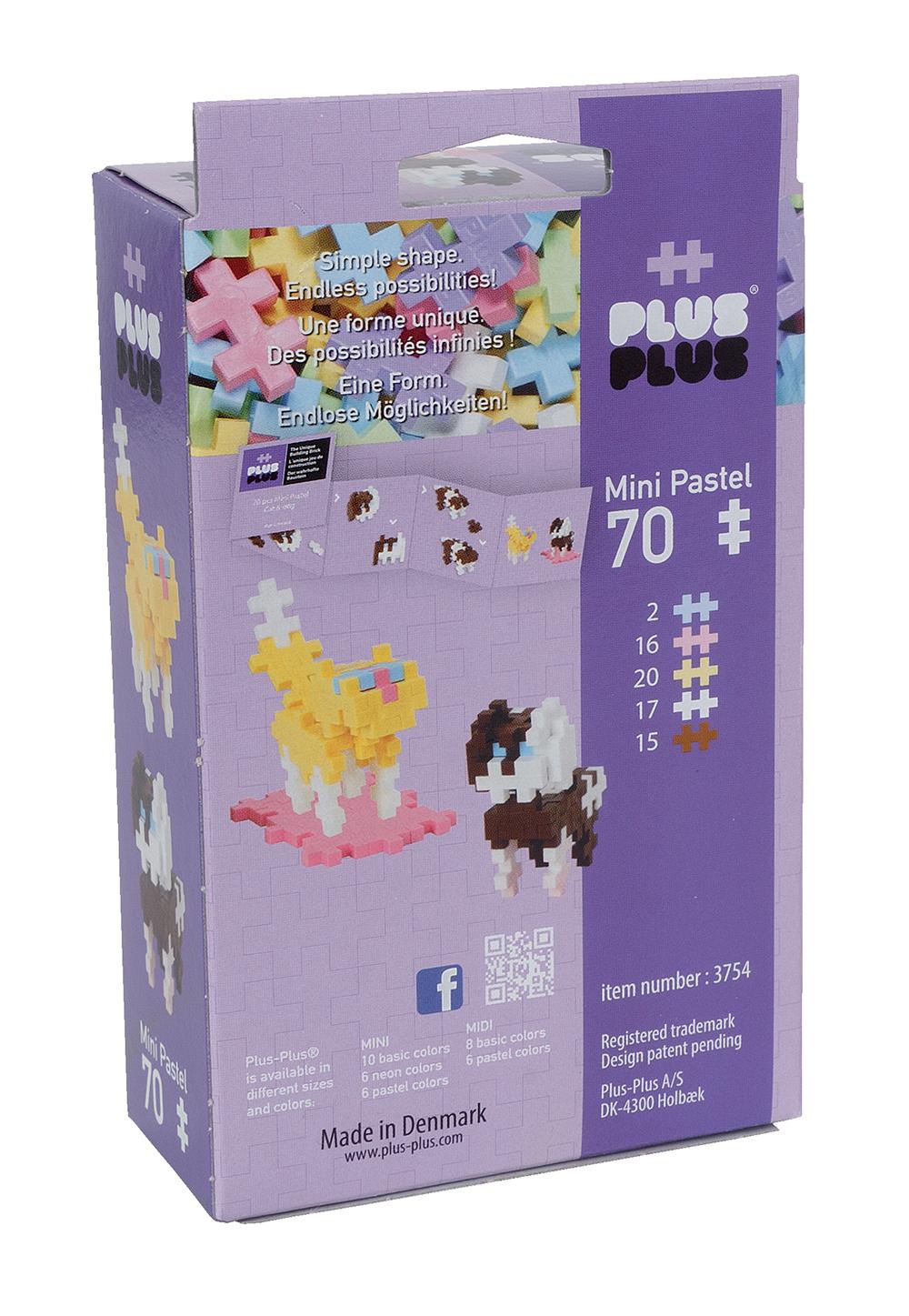 Plus Plus - Mini Pastel 70 pièces - Chiens