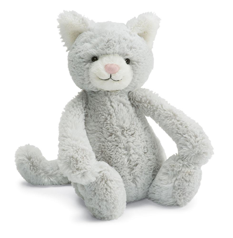 Peluche chat gris moyen
