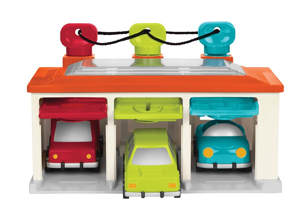 Battat - Garage à clés pour 3 autos