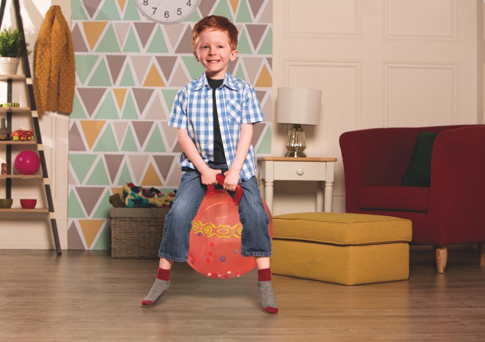 Ballon sauteur Hop n'Glow rouge