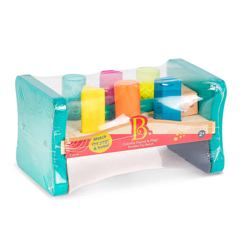 B.Woody - Petit établi en bois coloré tape-joue