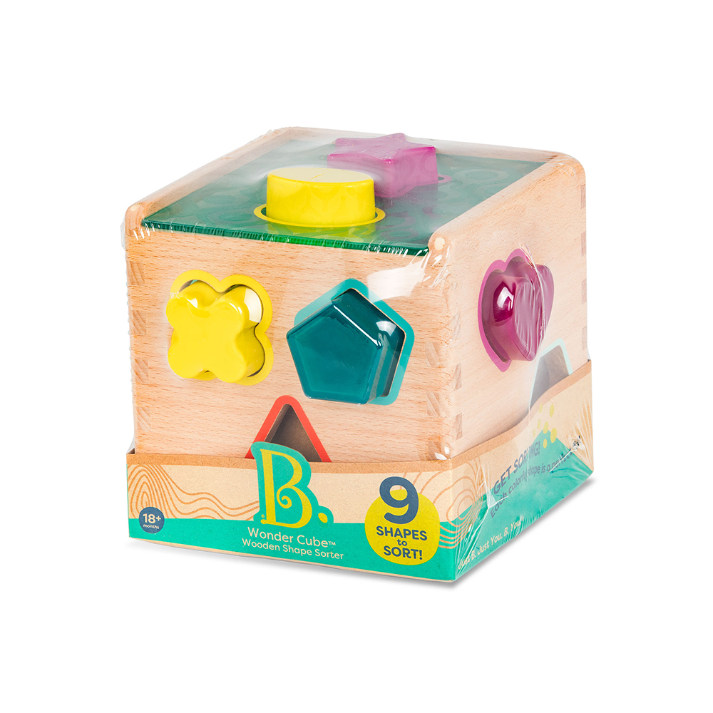 B.Woody - Cube trieur de formes Wonder