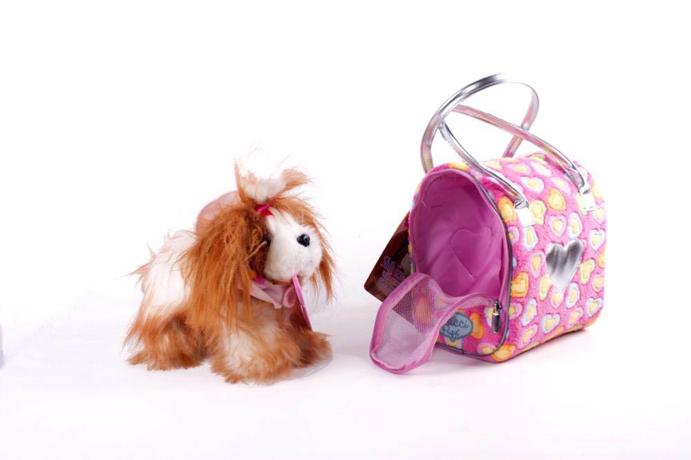Pucci Pups - Peluche Shit Tzu avec sac de transport