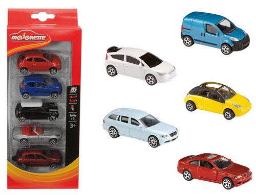 Majorette - Ensemble 5 voitures assorties