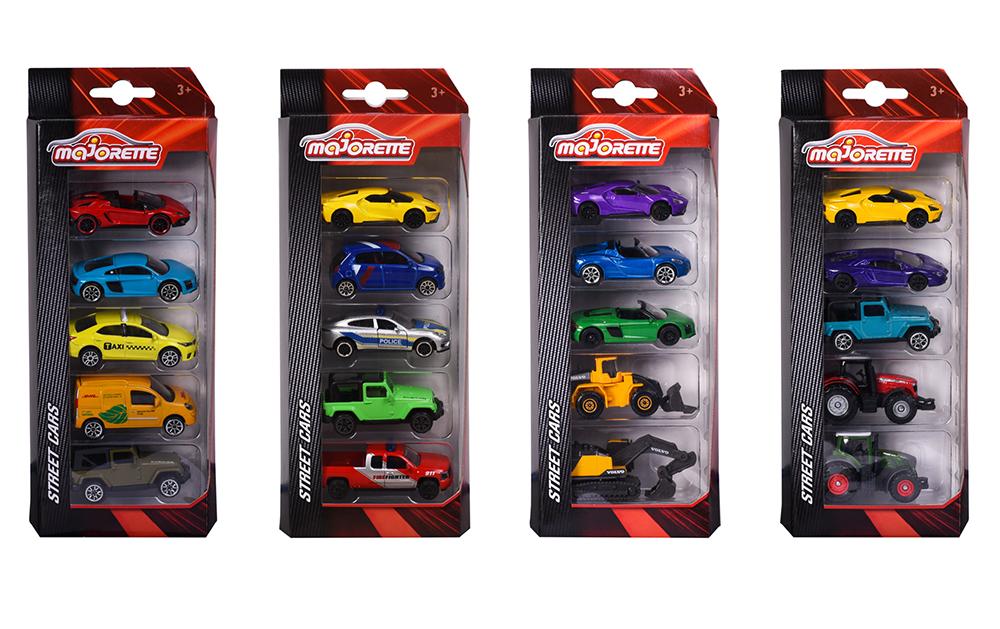 Majorette - 1:64 Ensemble 5 voitures assorties