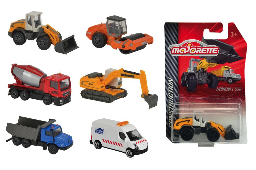 Majorette - 1:64 Camion de construction assortis