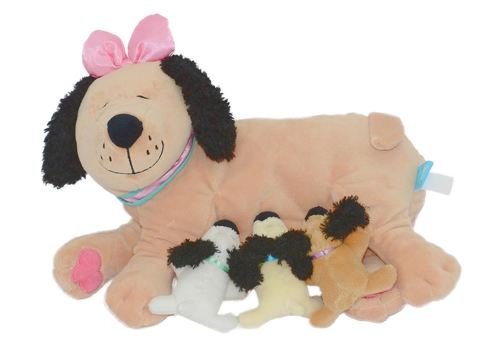 peluche maman chien et b b s club jouet achat de jeux et jouets prix club. Black Bedroom Furniture Sets. Home Design Ideas