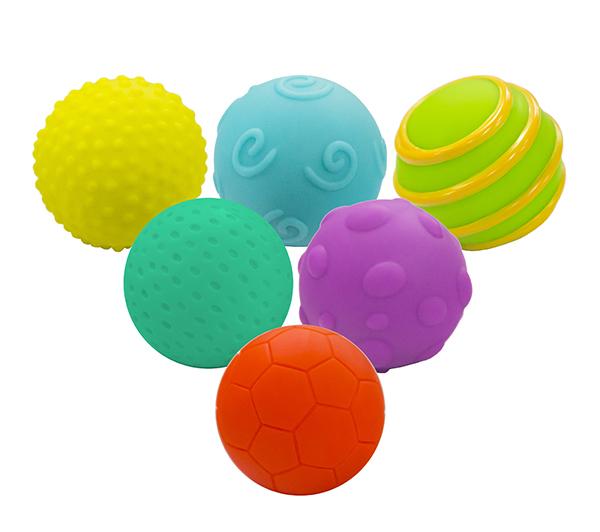 Balles texturées 6 pièces