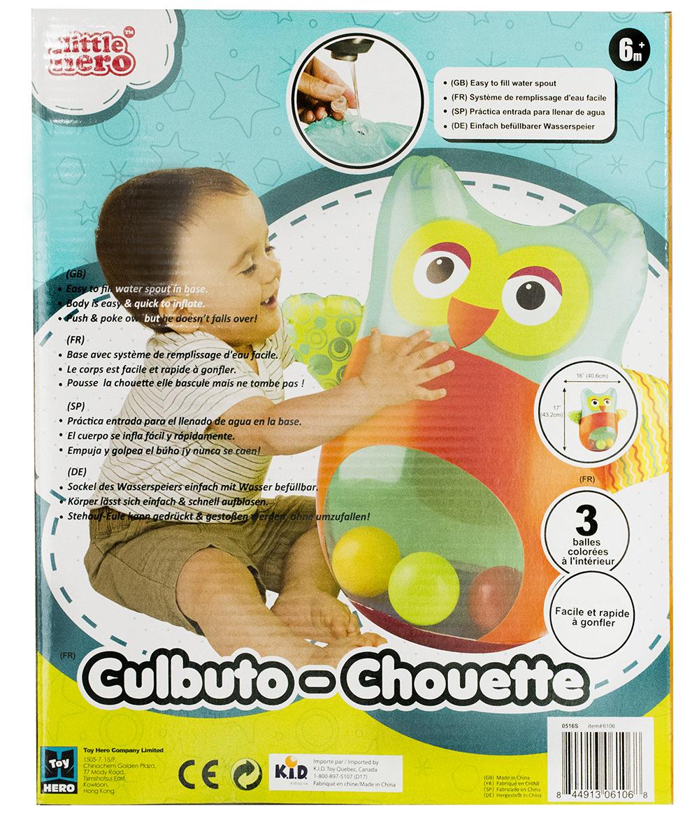 Little Hero - Hibou gonflable Culbuto