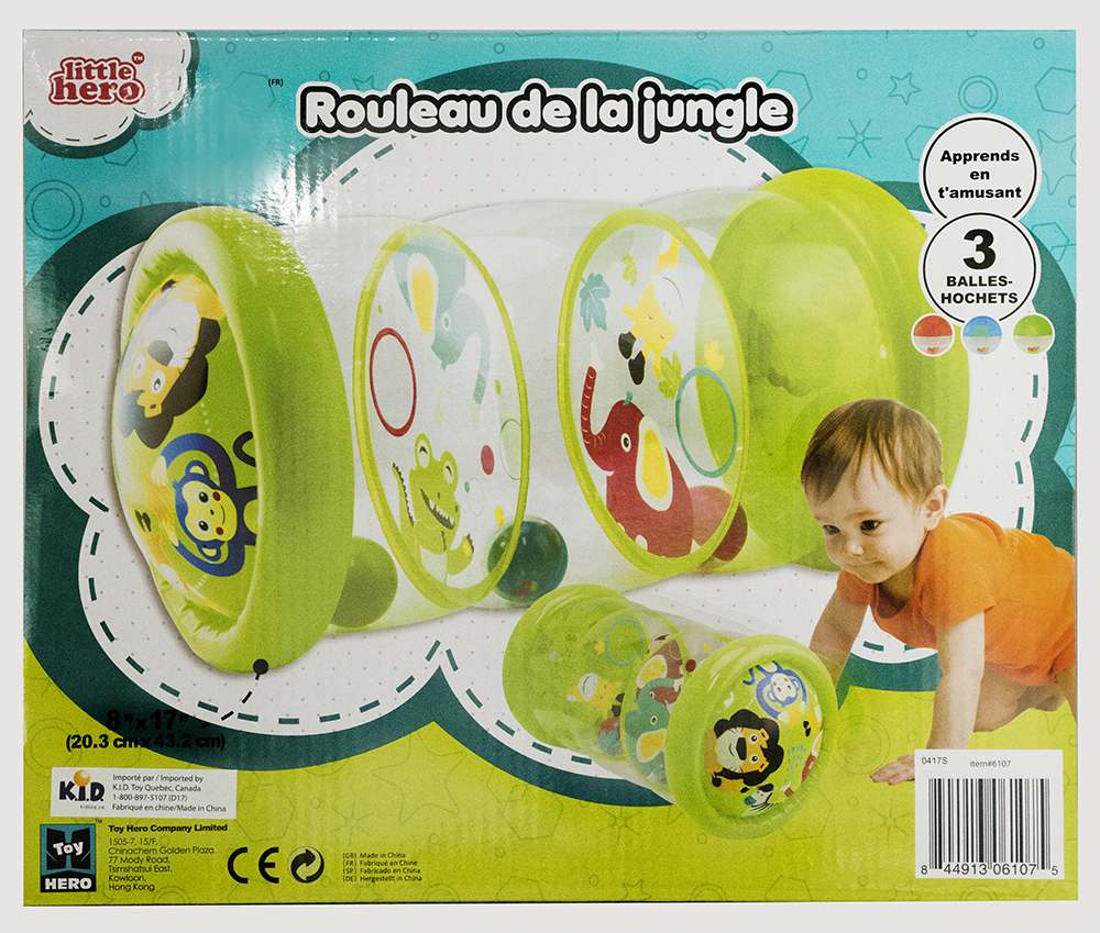 Rouleau gonflable de la jungle