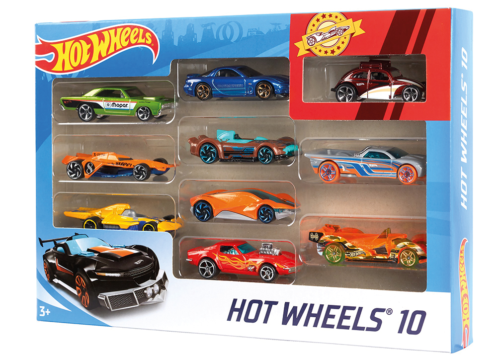 Hot Wheels - Ensemble de 10 véhicules