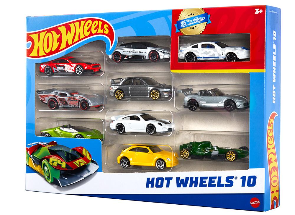 Hot Wheels - Ensemble de 10 véhicules