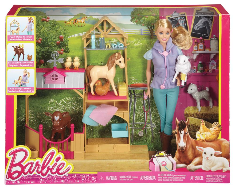 Barbie ensemble v t rinaire de luxe poup es - Barbie veterinaire ...