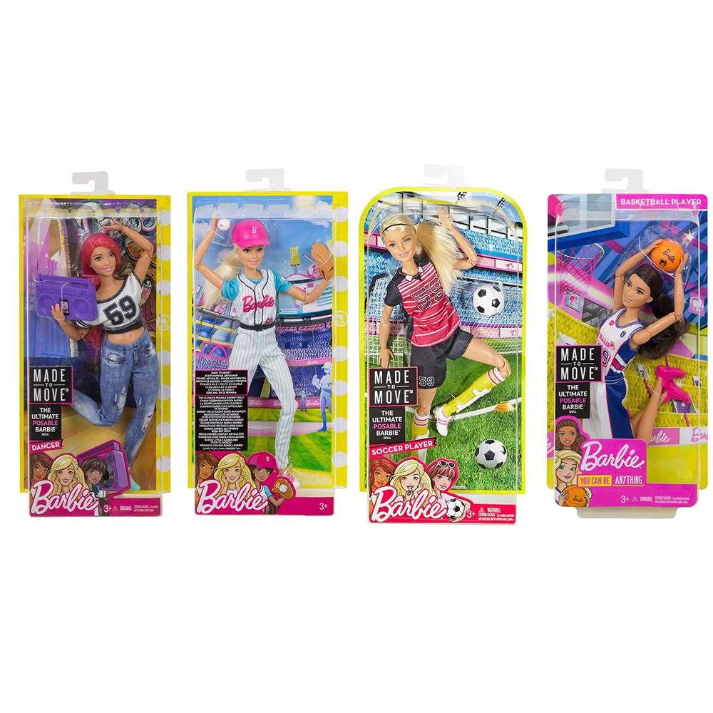 Barbie - Poupée sportive assorties