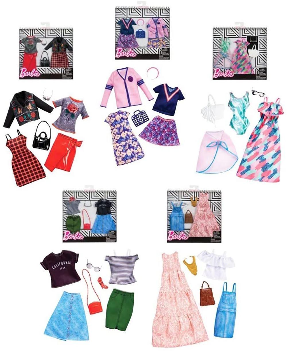 Barbie - Ensemble de vêtements à la mode assortis
