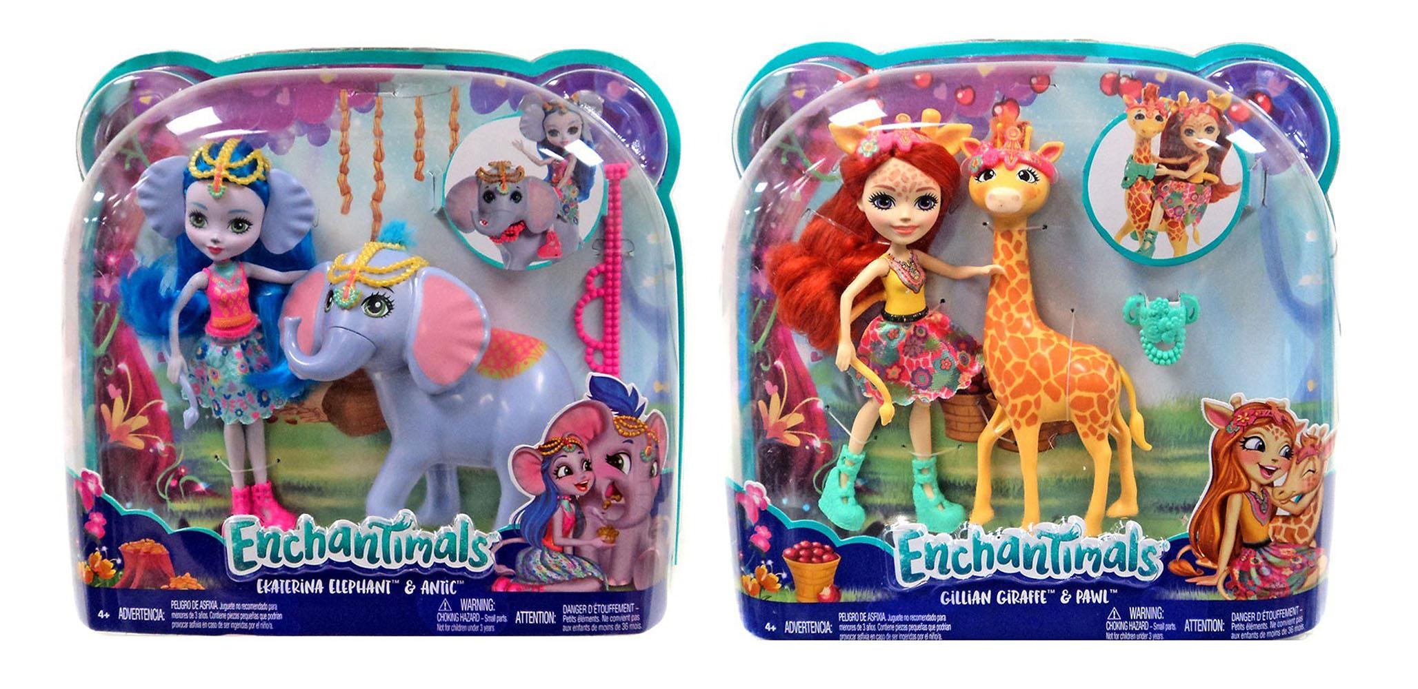 Coffret pour histoire avec poupée et animal grand format Enchantimals assortis