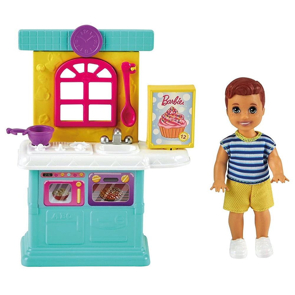 Barbie Skipper - Poupée et coffret de jeu assortis
