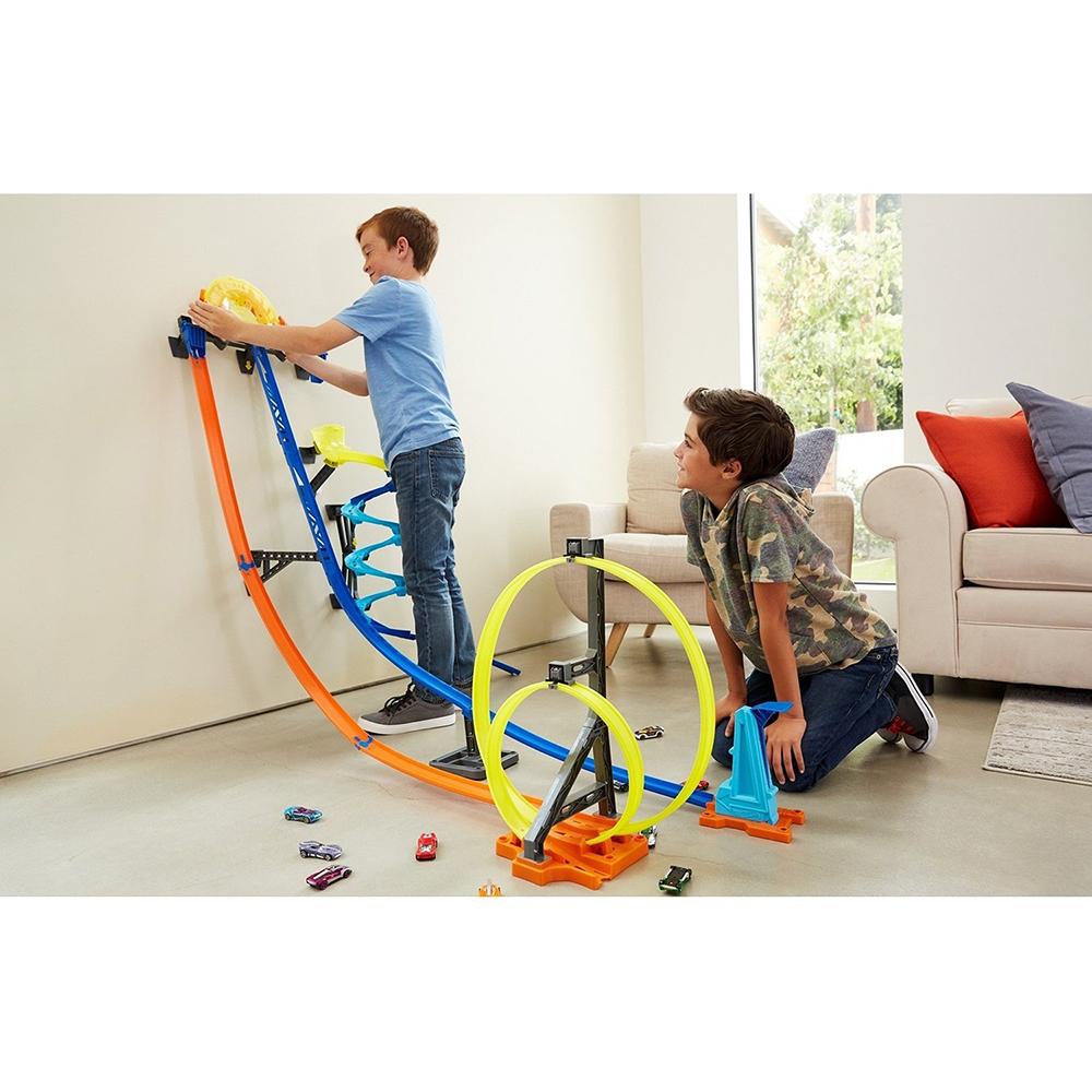 Hot Wheels - Track Builder - Coffret Lancement vertical