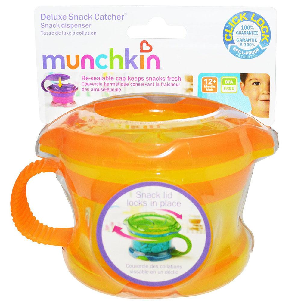 Munchkin - Click Lock Distributeur à collation de luxe avec couvercle assortis