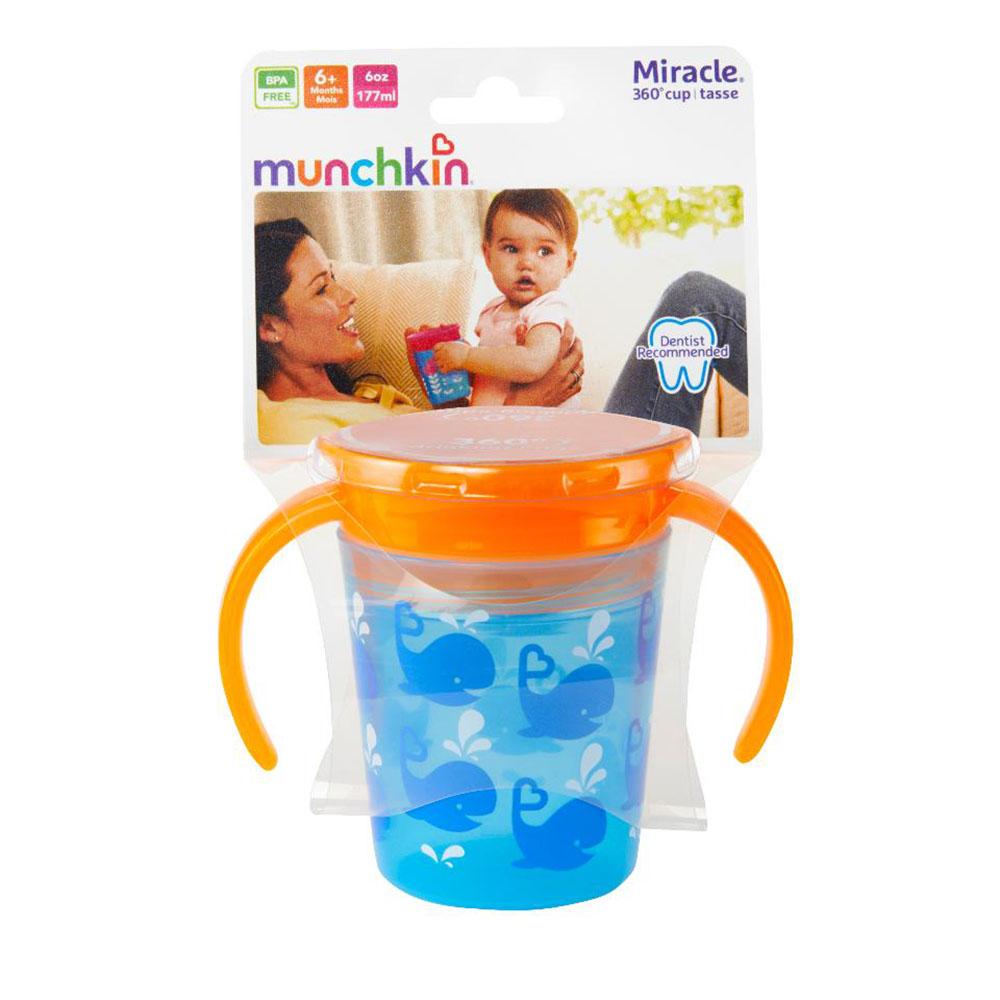 Munchkin - Tasse d'apprentissage Miracle 6oz assorties