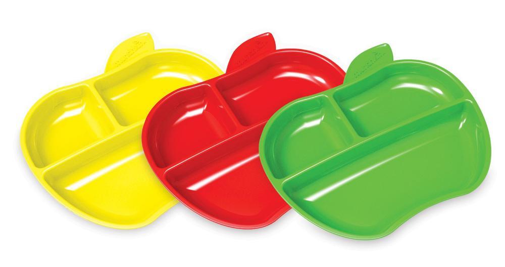 3 assiettes compartimentées petite pomme