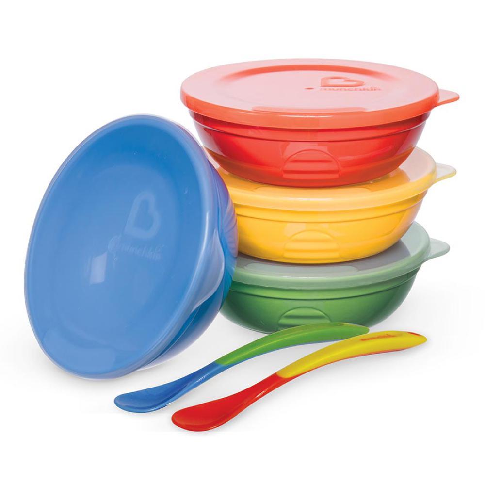 Munchkin - 10 pièces bols couvercles et cuillères