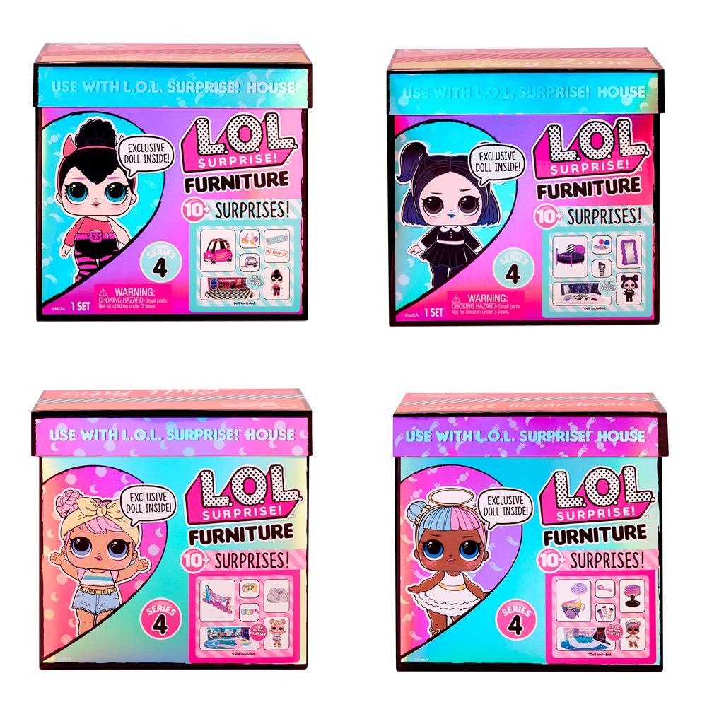 L.O.L. Surprise! - Meubles avec poupée série 3 assortis