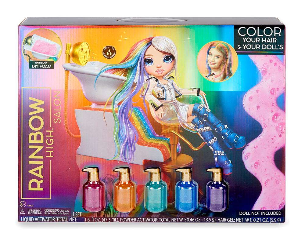 Rainbow Surprise - Ensemble de salon de coiffure